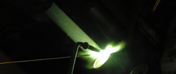Gas flux welding